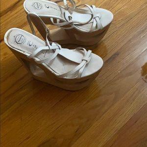 Jeffery Campbell  white platform heels
